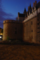 photo du Chateau fort de Nantes de nuit